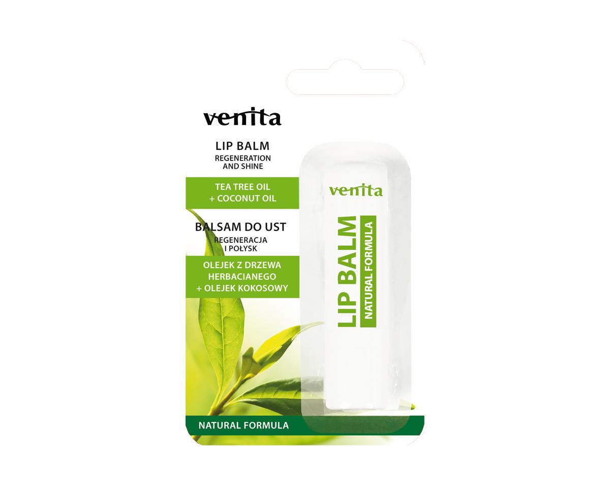VENITA Lip Balm Tea Tree Coconut Oil