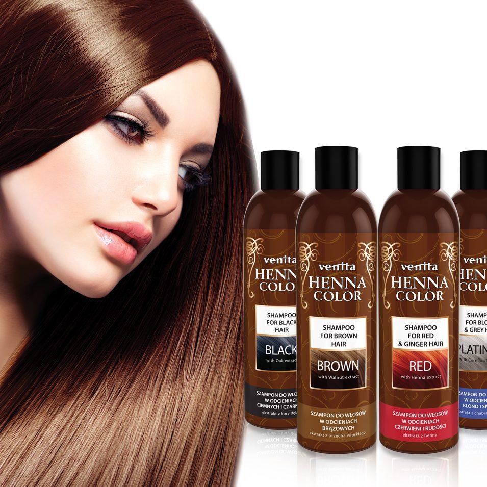 VENITA HENNA COLOR Shampoo & Model